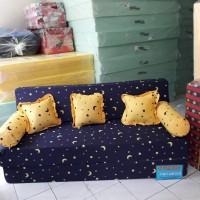 Sofa bed no2 ukuran 200x160x20 kain katun Nikita full busa INOAC
