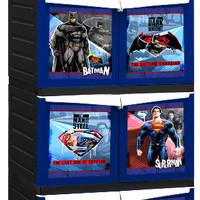 Rak Lemari Cabinet Plastik Napolly Superman Batman Susun 4