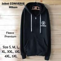 Jaket Converse Hitam Hoodie Size S M L XL XXL 3XL 4XL 5XL