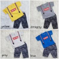 LEVIS Suspender Setelan Baju Kaos Formal Anak Bayi Balita Unik