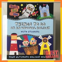 Activity book things to do on an unusual holiday with stickers by