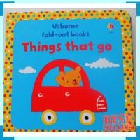 Usborne fold out books things that go - buku import anak