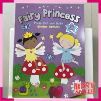 Fairy princess press out and make sticker activity book by autumn