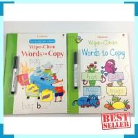 Usborne wipe clean words to copy - buku import anak