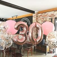 Balon Foil Angka Rose Gold 100cm - 0