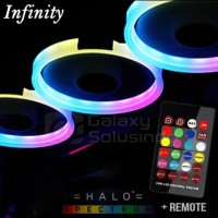 Infinity HALO Spectrum Fan - 5pcs RGB Fan + Controller Hub + REMOTE