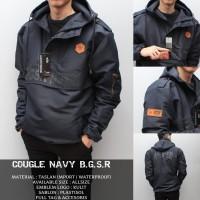 Jaket Cougle Navy BGSR | Jacket Taslan Waterproof pria