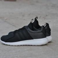 Sepatu Adidas Cloudfoam Lite Race Black Reflektive Original BNWB