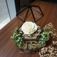 Mawar Clay Wooden Terrarium / Kotak Cincin/ Ring Bearer