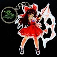 Gantungan Kunci Anime Reimu Hakurei Touhou Project Keychain Chibi 2