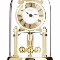 Jam Meja Seiko QHN006G Original Aluminium Pendulum Murah QHN006