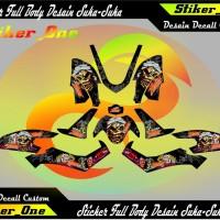 sticker decal yamaha N Max full body zomby black