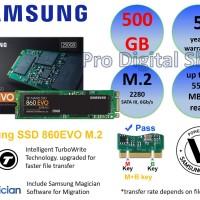 SAMSUNG SSD 860EVO M.2 500GB/SATA B&M Key/Baru/Ori/Garansi 5 Tahun
