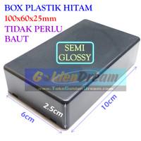 Box Plastik Hitam 100x60x25mm Kotak Elektronik Storage Housing Casing