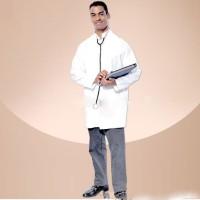 kostum dokter pria set dengan peralatan pendengar cosplay halloween