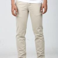 Celana Chino Panjang Krem Bigsize 35-42   Cream White   Kantor   Katun