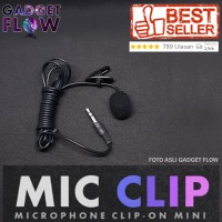Microphone / Mic Clip on Mic 3.5mm For Smartphone / PC