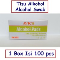 Avico Alcohol Swab Tisu Alkohol Swabs Pads Tissue Sensi