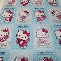 Hello kitty sanrio biru 45 cm x 10 mtr ~ Wallpaper sticker dinding