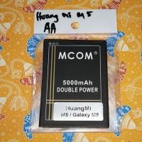 Baterai huangmi m5 galaxy m5 double power mcom 5000mah battle battery