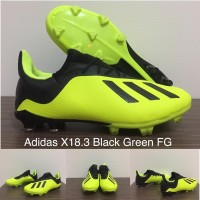 Sepatu Bola Adidas X 18.1 Black Green FG