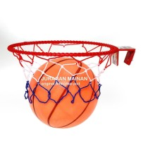 Mainan Set Ring Basket Bola Karet Anak Edukasi Olahraga Edukatif
