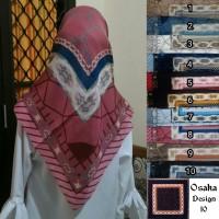 Segiempat Osaka Full Motif. Jilbab Umama. Kerudung Paris Motif.Hijab