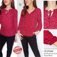 Blouse Wanita Branded- 17787- 23aa-Oldnavy-mr- red floral- size XS