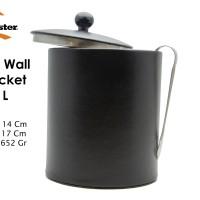 HomeMaster Ice Bucket Stainless Tempat Penyimpanan Es Batu Black