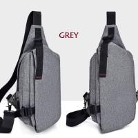 Tas Selempang Pria / Waterproof Sling Bag Canvas Import USB | CS-TK02