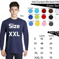 Kaos Baju Polos Lengan Panjang Size XXL Combed 30's