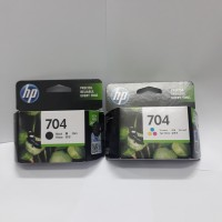 Tinta HP 704 Black dan HP 704 Color Original 1 set