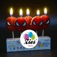 Lilin ulang tahun / lilin ultah karakter spiderman