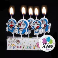 Lilin ulang tahun / lilin ultah karakter doraemon