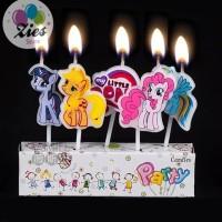 Lilin ulang tahun / lilin karakter little pony / kuda pony