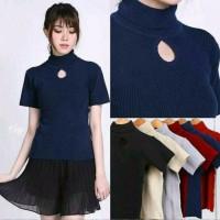 Sweater Cewe Modis Roundhand Rajut Bolda Baju Kaos Wanita - ND