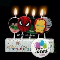 Lilin ulang tahun / lilin ultah karakter kepala evengers / superhero