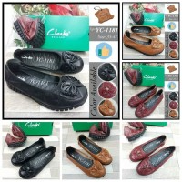 New Sepatu wanita Clarks Flat YC-1181
