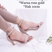 [READY STOCK dan FREE ONGKIR] sepatu high Heels Glitter import model