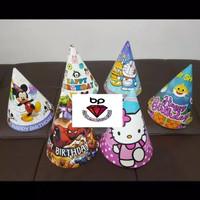 Topi ulang tahun kerucut / topi ulang tahun anak karakter