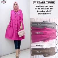 Baju Atasan Wanita Muslim Blouse Lv Pearl Tunik