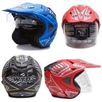 [Helm Dewasa] WTO Helmet Pro-Sight Cross - Warna Doff