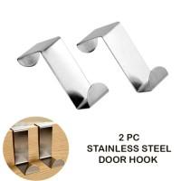Gantungan stainless steel door hook 1 set isi 2 pcs - door hook