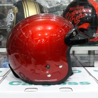 Helm cargloss CF Retro Deef Red Met