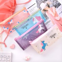 Tempat Pensil / Pencil Box Bening Edisi Unicorn Lucu