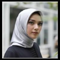 Awet H-0836 Jilbab Kerudung Hijab Segi 4 Satin Satin Velvet Polos