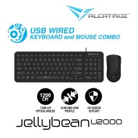 Alcatroz Combo Keyboard & Mouse Wired JellyBean U2000 - Black