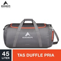 Eiger Concisor Folded Duffle Bag M 45L - Grey / Tas Duffle Pria