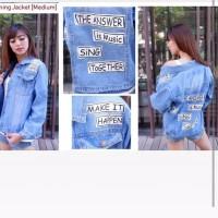 Jeans denim levis xxl xl jumbo bigsize oversize jacket wanita jaket