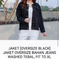Xl jumbo bigsize jaket denim jeans outer luaran baju wanita oversize